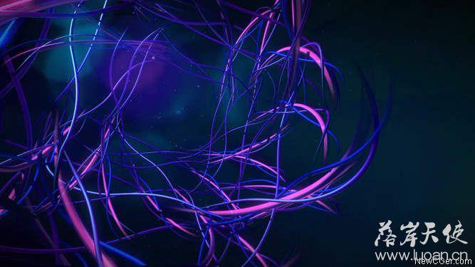 杂乱无章的抽象线条运动背景循环素材