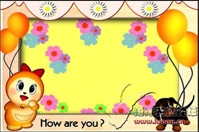 超可爱的宝宝卡通边框psd模板(21套)