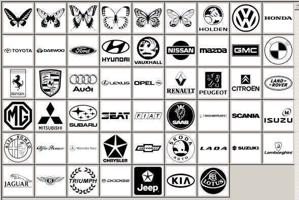 ps形状汽车标志